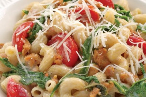 Diabetes-Friendly Turkey Sausage and Arugula Pasta